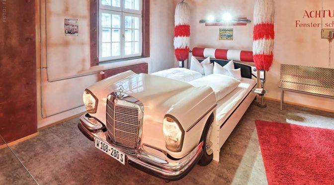 Helt specielt V8 hotel nær Stuttgart